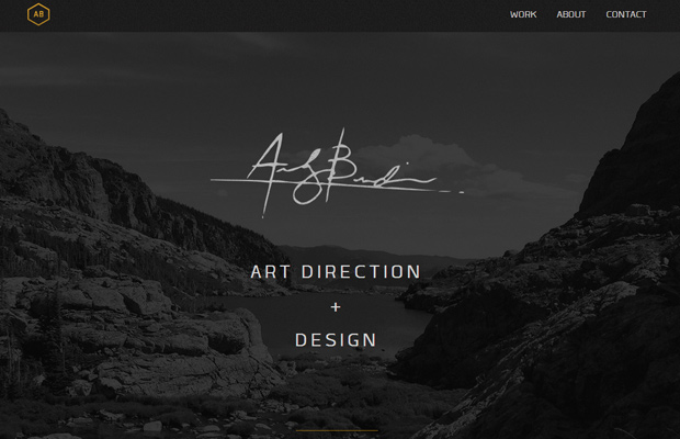 andrew burdin website art direction inspiring