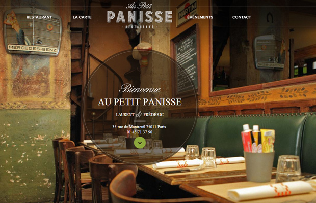 au petit panisse website french layout
