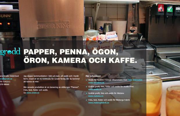 grodd reklam Sara Brodin Soderlund website