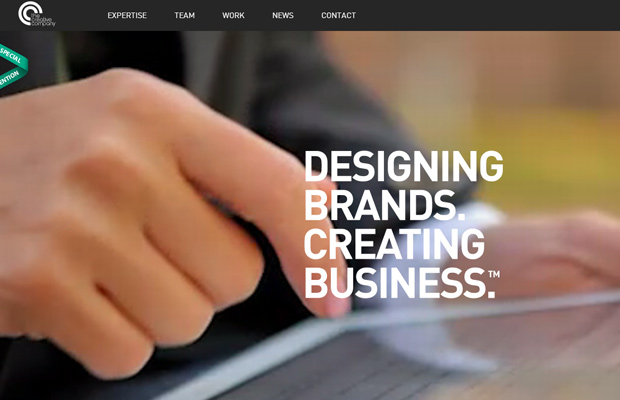 creative company graphics layout homepage
