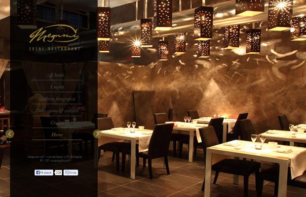megumi japanese sushi restaurant website layout